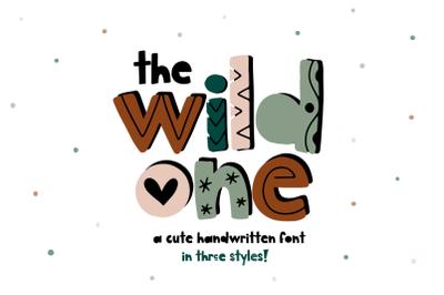 The Wild One - Fun Handwritten Font in 3 styles!