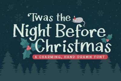 Twas the Night Before Christmas Font