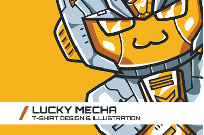 Lucky Mecha T-Shirt Illustration