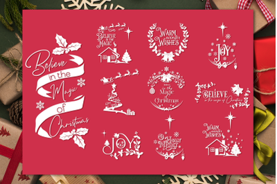 Christmas Quotes SVG Bundle