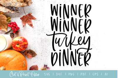 Turkey Dinner - DXF/SVG/PNG/PDF Cut & Print Files
