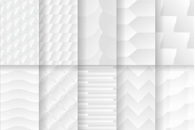 Set of White texture