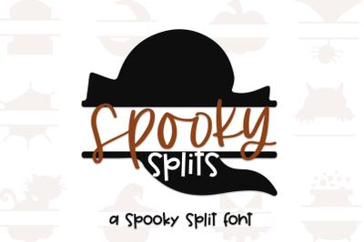 Spooky Splits - A Split Halloween Font for Crafters!