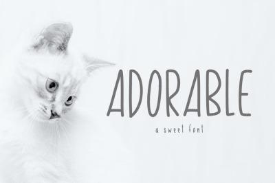 Adorable Skinny Font