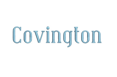 Covington 15 sizes embroidery font