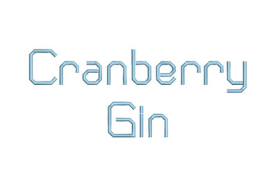 Cranberry Gin RG 15 sizes embroidery font (RLA)