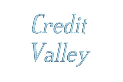 Credit Valley Italic 15 sizes embroidery font (RLA)