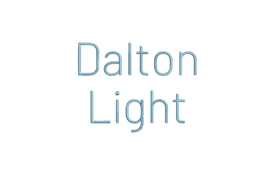 Dalton Light 15 sizes embroidery font