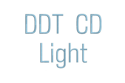 DDT CD Light 15 sizes embroidery font (RLA)