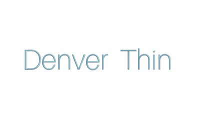 Denver Thin 15 sizes embroidery font