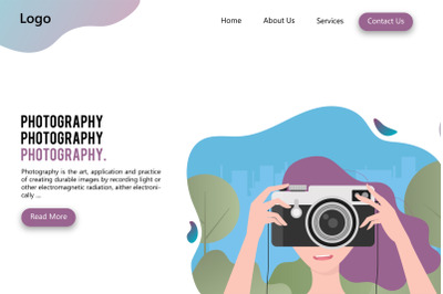 Female Photography Landing Page