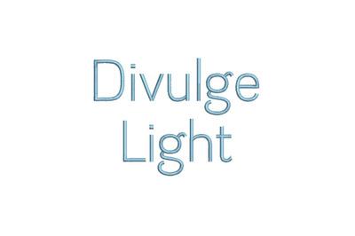 Divulge Light 15 sizes embroidery font (RLA)