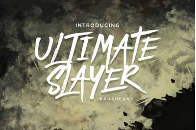 ULTIMATE SLAYER - Handbrush Font