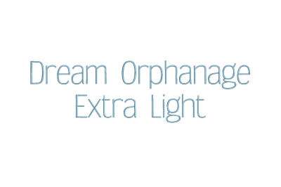 Dream Orphanage Extra Light 15 sizes embroidery font (RLA)