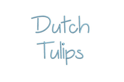 Dutch Tulips 15 sizes embroidery font (MHA)