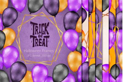 Watercolor Halloween Frames