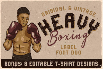 Heavy Boxing. Font Duo