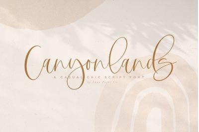 Canyonlands Script Font