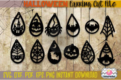 SVG, DXF, PDF, PNG, and EPS Halloween Bundle, Spider web, Bat