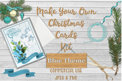 Christmas Card Making Kit Printable and With Free Clipart