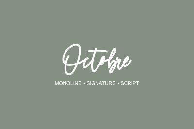 Octobre - Monoline Font