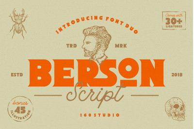 Berson Font + 45 Illustration Pack