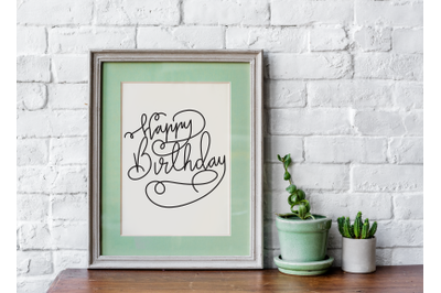 Hand drawn Happy Birthday Quote and Phrase - Birthday Lettering