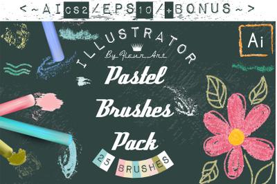 Vector pastel brushes for Adobe Illustrator