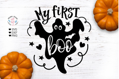 My First Boo - Halloween Baby Cut File