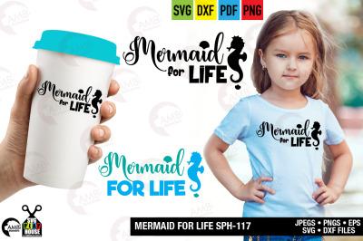 Mermaid SVG,Mermaid for life svg, Beach SVG, SPH-117