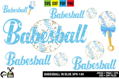 Babesball in blue svg, Baby baseball, SPH-149