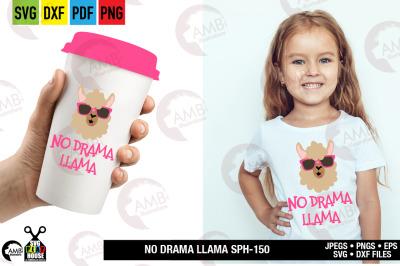Llama Svg, Llama Face, Llama Head, Svg, No drama llama svg, SPH-150