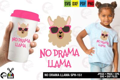 Llama Svg, Llama Face, Llama Head, Svg, No drama llama svg,