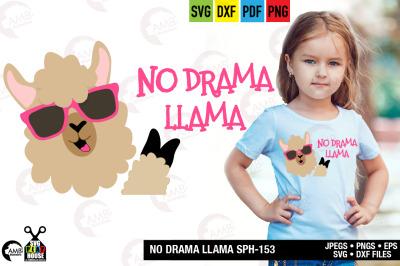 Llama Svg, Llama Face, Llama Head, Svg, No drama svg SPH-153