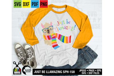 Llama Svg, Llama Face, Llama Head, Svg, just be Llamazing, SPH-158