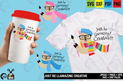 Llama Svg, Llama Face svg, Just be Llamazingly creative, SPH-159