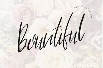 Bountiful Hand Lettered Font