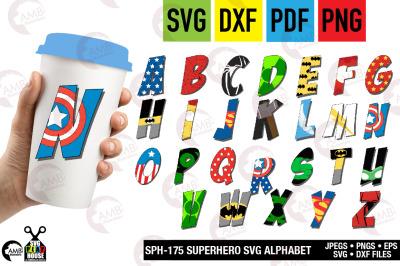 Superhero Letter SVG, Alphabet clipart, SPH-175