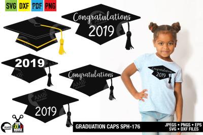 Graduation cap svg, Grad clipart, SPH-176