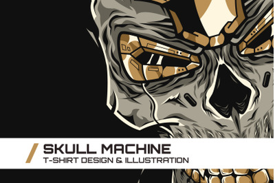 Skull Machine T-Shirt Illustration