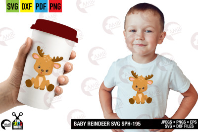 Baby reindeer svg, Baby, cricut, cutting filse SPH-195