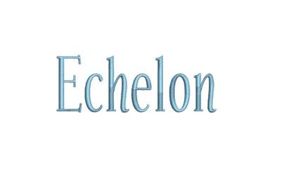 Echelon 15 sizes embroidery font (RLA)