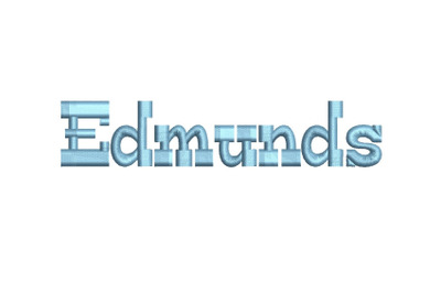 Edmunds 15 sizes embroidery font (RLA)
