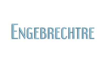 Engebrechtre Regular 15 sizes embroidery font
