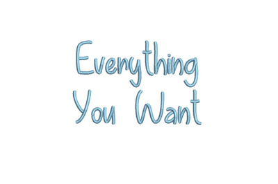 Everything You Want 15 sizes embroidery font (MHA)