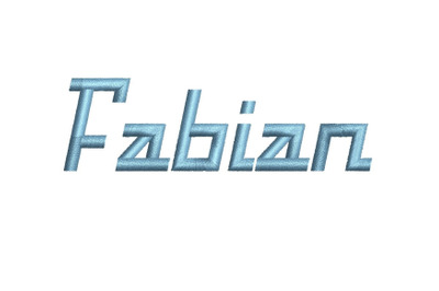 Fabian 15 sizes embroidery font (RLA)