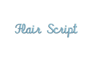 Flair Script 15 sizes embroidery font