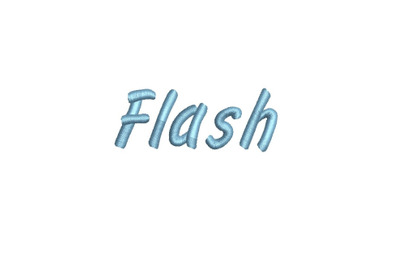 Flash 15 sizes embroidery font