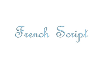 French Script 15 sizes embroidery font