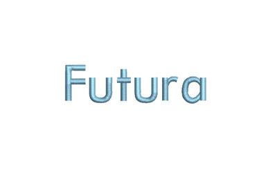 Futura 15 sizes embroidery font